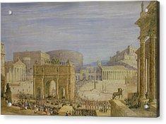 The Roman Forum Acrylic Print by Francis Vyvyan Jago Arundale