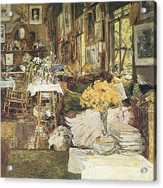 The Room Of Flowers Acrylic Print by Childe Hassam