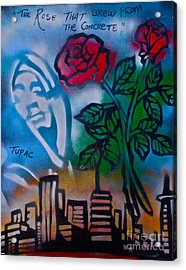The Rose From The Concrete Acrylic Print by Tony B Conscious