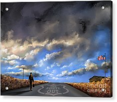 Usa Acrylic Print featuring the painting The Route Out by Susi Galloway