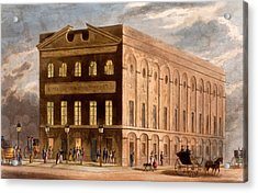 The Royal Couborg Theatre, 1826 Acrylic Print by Daniel Havell