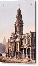 The Royal Exchange, 1816 Acrylic Print by Rudolph Ackerman