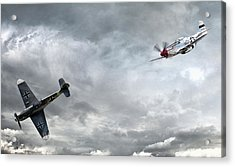 The Rush Acrylic Print by Peter Chilelli