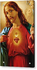 The Sacred Heart Of Jesus Acrylic Print by French School