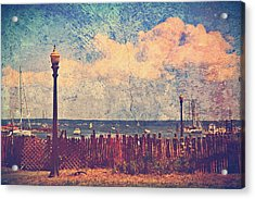The Salty Air Sea Breeze In Her Hair Iv Acrylic Print by Aurelio Zucco