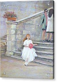 The San Gimignano Wedding Party Acrylic Print by Jan Matson