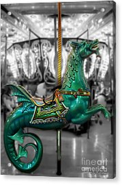 The Sea Dragon - Carousel Acrylic Print by Colleen Kammerer
