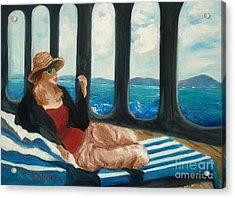 The Sea Princess - Original Sold Acrylic Print by Therese Alcorn