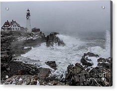 The Sea Was Angry  Acrylic Print by Joe Faragalli