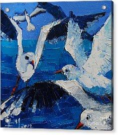 The Seagulls Acrylic Print by Mona Edulesco
