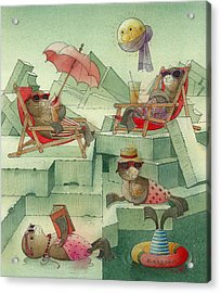 The Seal Beach Acrylic Print by Kestutis Kasparavicius