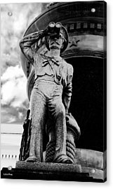 The Seaman IIi Black And White Acrylic Print by Lesa Fine