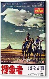 The Searchers, From Left John Wayne Acrylic Print by Everett