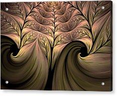The Secret World Of Plants Abstract Acrylic Print by Georgiana Romanovna