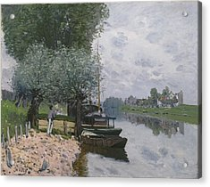 The Seine At Bougival, 1872 Acrylic Print by Alfred Sisley