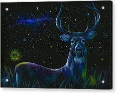 The Serenity Of The Night  Acrylic Print by Yusniel Santos