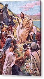 The Sermon On The Mount Acrylic Print by Harold Copping