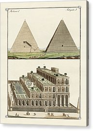 The Seven Wonders Of The World Acrylic Print by Splendid Art Prints