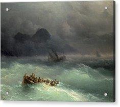 The Shipwreck Acrylic Print by Ivan Konstantinovich Aivazovsky