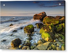 The Shore Of The Sound Acrylic Print by Rick Berk
