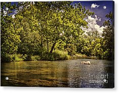 The Shores Of Blue River Acrylic Print by Tamyra Ayles