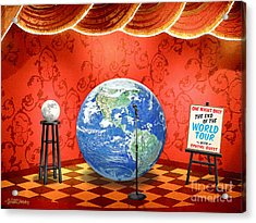 The Show Must Go On Acrylic Print by Cristophers Dream Artistry