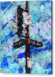 The Signal Acrylic Print by Jack Zulli