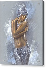 The Silver Dancer Acrylic Print by Zorina Baldescu