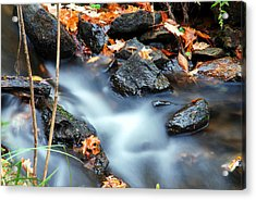 The Silvery Blue Green Velvet Effect Acrylic Print by Optical Playground By MP Ray