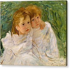The Sisters Acrylic Print by Mary Cassatt