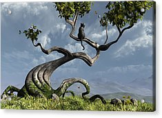 The Sitting Tree Acrylic Print by Cynthia Decker
