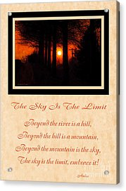 The Sky Is The Limit V 2 Acrylic Print by Andee Design