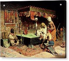 The Slipper Merchant Acrylic Print by Jose Villegas Cordero