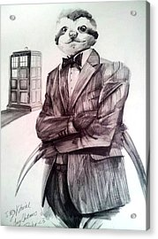 The Sloth Doctor Acrylic Print by Neal Cormier