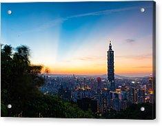 The Sky Of Taipei 101 Acrylic Print by Dewa Wirabuwana