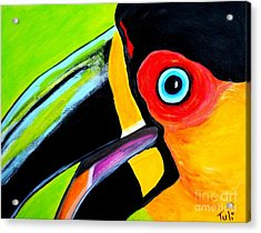 The Smiling Toucan Acrylic Print by Claudia Tuli