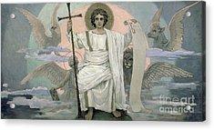 The Son Of God   The Word Of God Acrylic Print by Victor Mikhailovich Vasnetsov