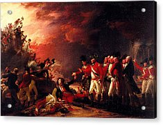 The Sortie From Gibraltar, 1788 Oil On Canvas Acrylic Print by John Trumbull