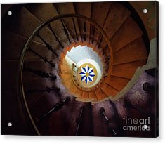 The Spiral Staircase Of Villa Vizcaya Acrylic Print by Mike Nellums