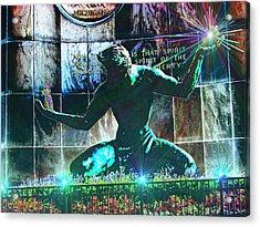 The Spirit Of Detroit Acrylic Print by Michael Rucker