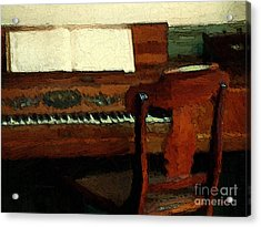 The Square Piano Acrylic Print by RC DeWinter