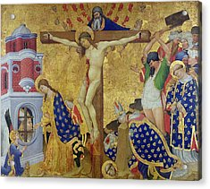 The St. Denis Altarpiece Acrylic Print by Henri Bellechose