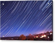 The Star Trail In Ithaca Acrylic Print by Paul Ge