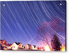The Star Trails Acrylic Print by Paul Ge