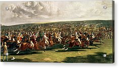 The Start Of The Memorable Derby Of 1844 Acrylic Print by Charles Hunt