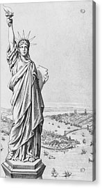 The Statue Of Liberty New York Acrylic Print by American School