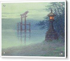 The Stone Lantern Cira 1880 Acrylic Print by Aged Pixel
