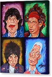 The Rolling Stones Acrylic Print by Dan Haraga