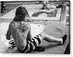The Street Painter Acrylic Print by Armando Perez