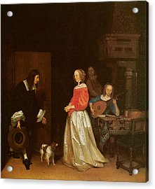 The Suitor's Visit Acrylic Print by Gerard Terborch